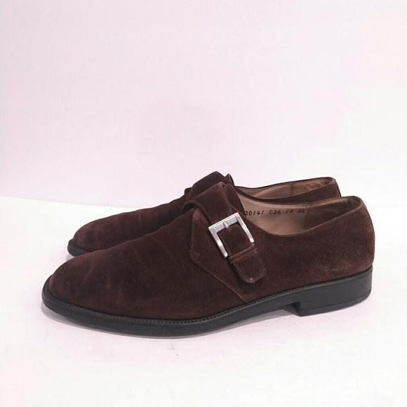 64cb565e5d1 Salvatore Ferragamo Brown Leather Monk Strap